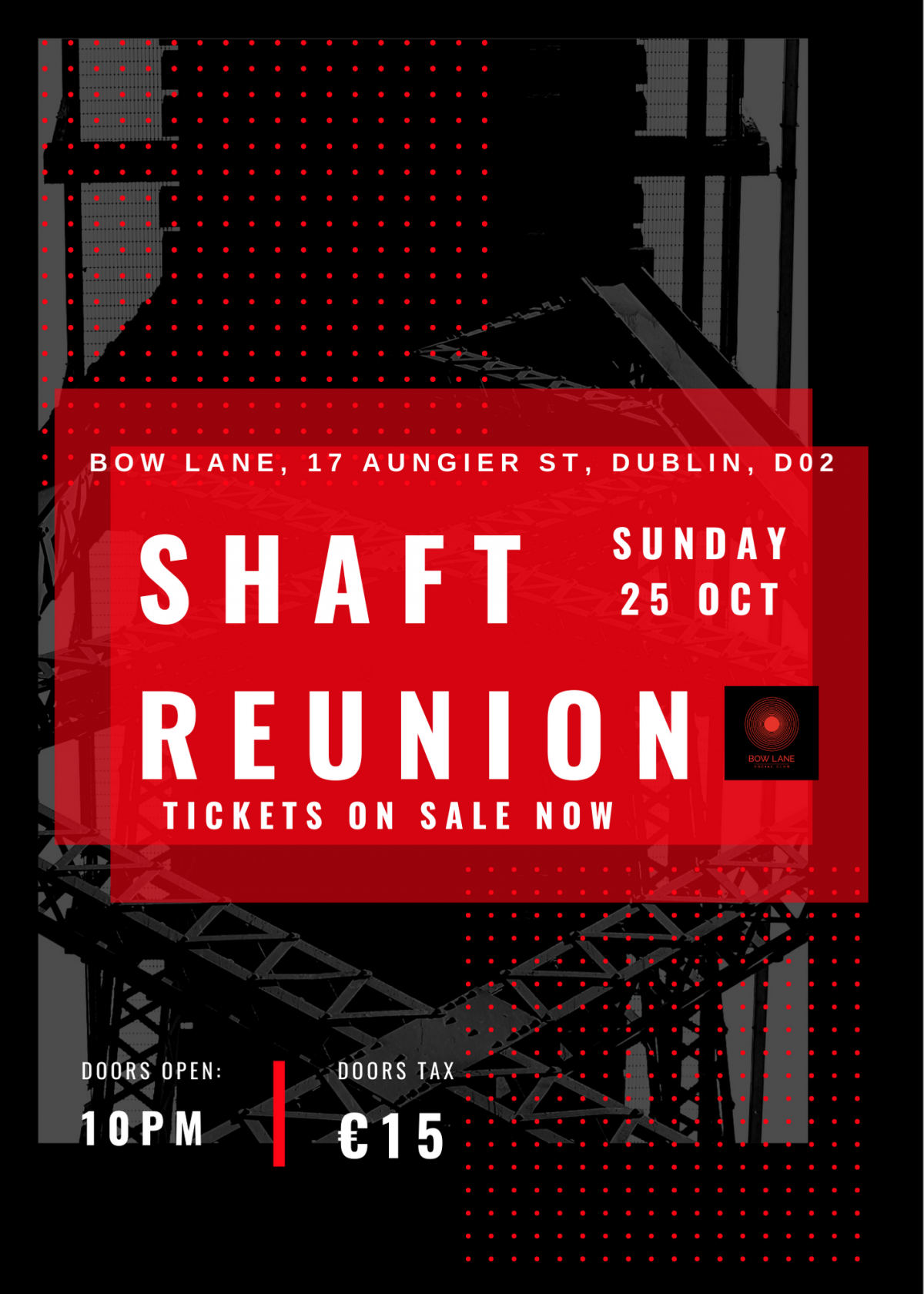 mBooked.com, Shaft Reunion, Dublin 2, Shaft Reunion